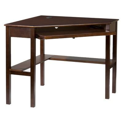 Corner Desk Espresso - Aiden Lane