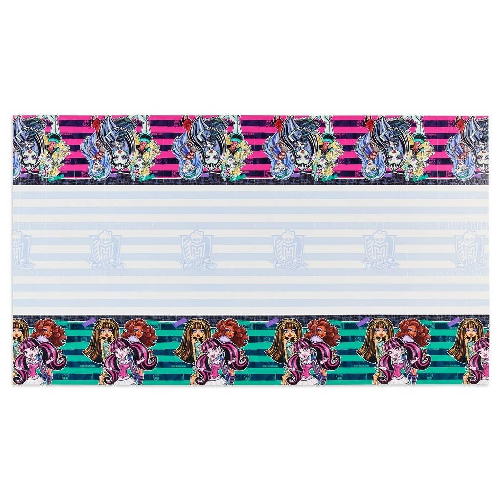 Monster High Plastic Table Cover, Multi-Colored