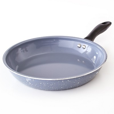 """Lakeside 10"""" Nonstick Aluminum Skillet with Faux Granite Speckle Finish"""