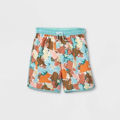 Boys' Camo Dolphin Hem Swim Trunks - art class™ Brown/Blue