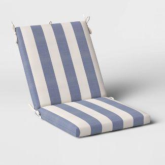 Cabana Stripe Outdoor Chair Cushion DuraSeason Fabric™ Navy - Threshold™