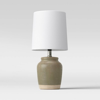 Textural Ceramic Mini Lamp Olive - Threshold™