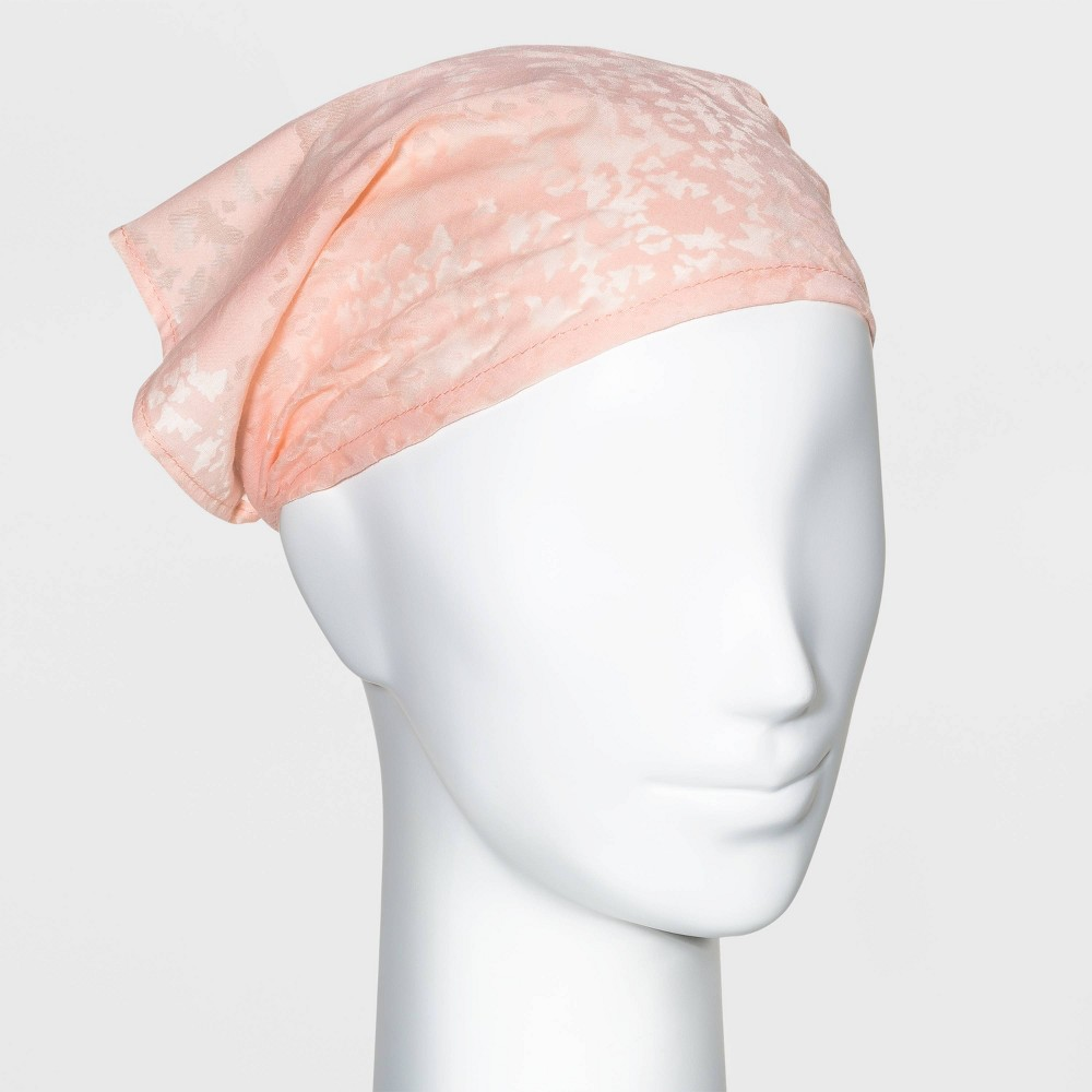 Butterfly Print Headscarf Wild Fable 8482 Pastel Peach