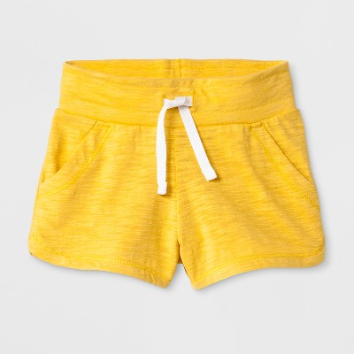 Toddler Girls' Trouser Shorts - Cat & Jack™ Yellow Beet 5T