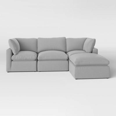 4pc Allandale Modular Sectional Sofa Set Gray - Project 62™