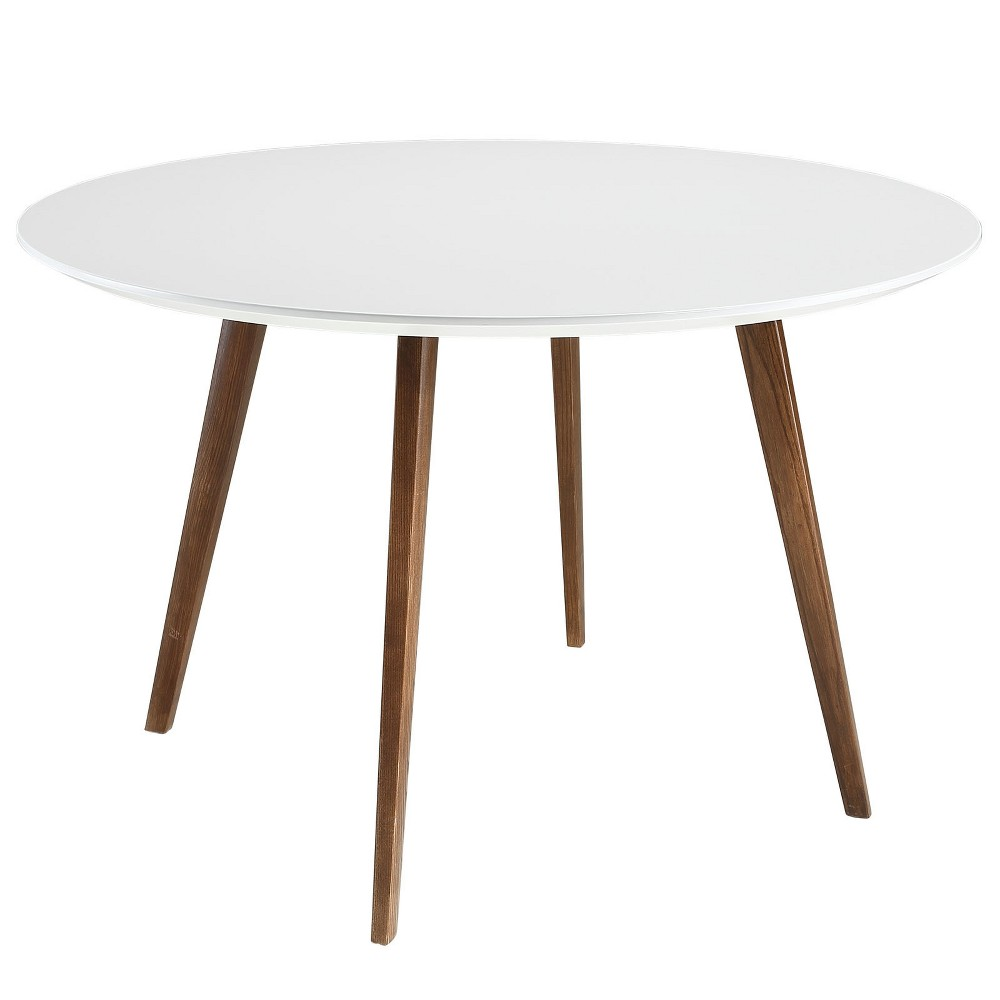 Platter Round Dining Table White - Modway