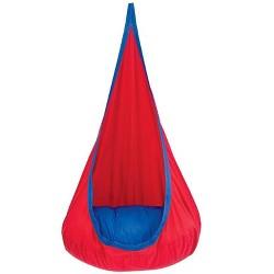 HugglePod Deluxe: Indoor/Outdoor Canvas Hanging Chair for Kids - HearthSong