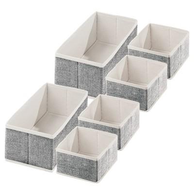 mDesign Fabric Drawer and Closet Storage Organizer
