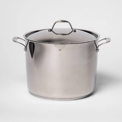 16qt Stainless Steel Stock Pot with Lid - Made By Design™