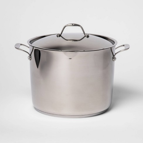 16qt Stainless Steel Stock Pot with Lid - Made By Design™ - image 1 of 3