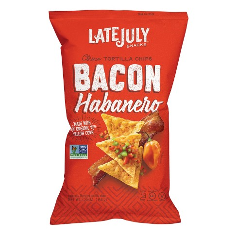 Late July Bacon Habanero Clasico Tortilla Chips - 2.25oz - image 1 of 1