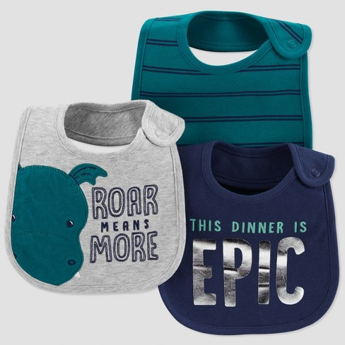 Baby Boys' 3pk Roar Means More Bib - Just One You® made by carter's Green - image 1 of 1