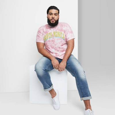 Men's Tie-Dye Regular Fit Short Sleeve Crewneck T-Shirt - Original Use™ Purple