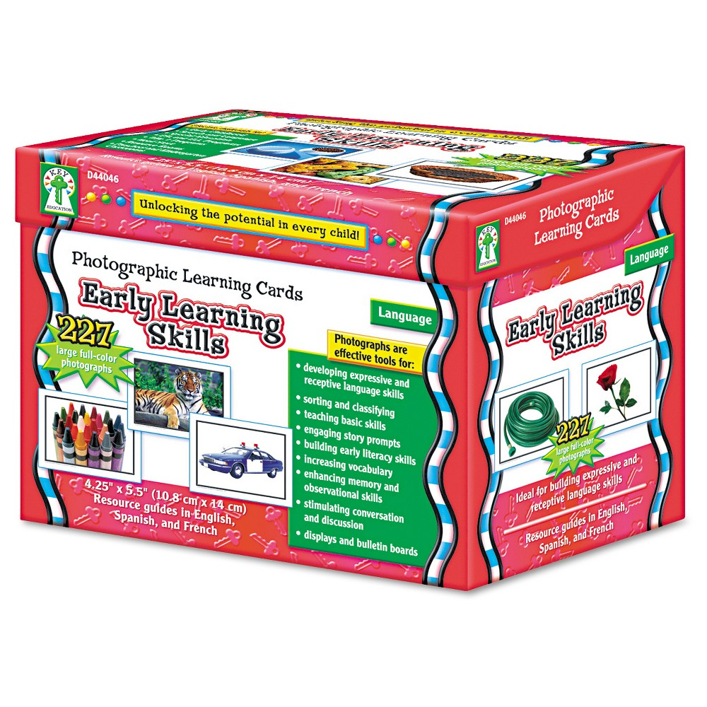 Image of Carson-Dellosa Publishing Photographic Learning Cards Boxed Set, Early Learning Skills, Grades K-12