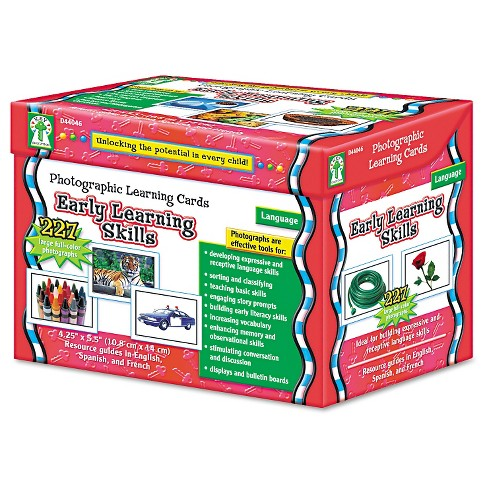 Carson-Dellosa Publishing Photographic Learning Cards Boxed Set, Early Learning Skills, Grades K-12 - image 1 of 2