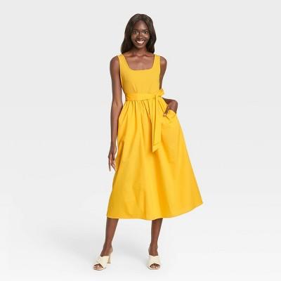 Women's Sleeveless Knit Woven Dress - Who What Wear™