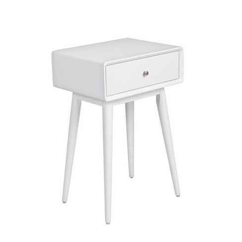 Rory One Drawer Side Table White - Adore Decor - image 1 of 7