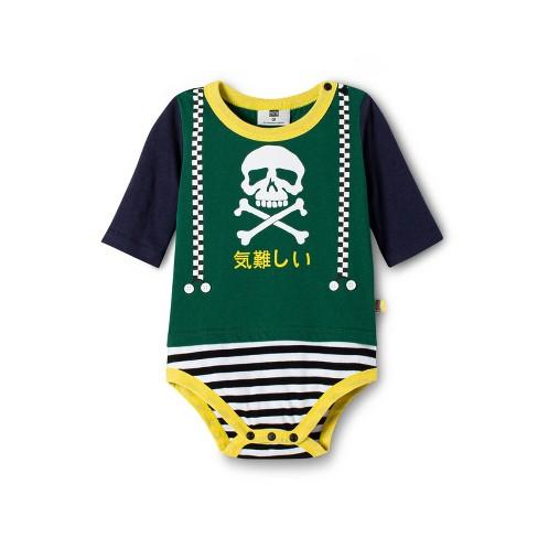 6739d09d20f64 Baby Boys' Skull Graphic Long Sleeve Crewneck Bodysuit - Harajuku Mini for  Target Green