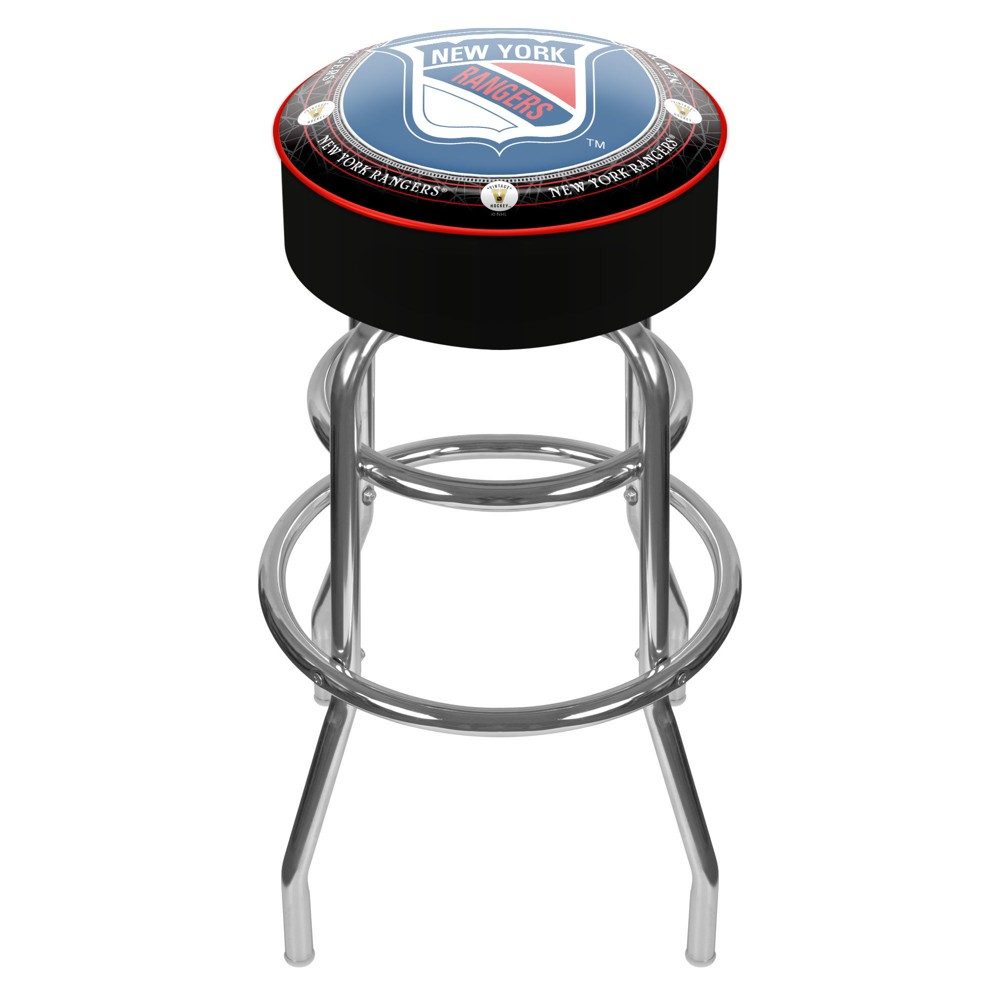New York Rangers Original 6 Padded Swivel Bar Stool