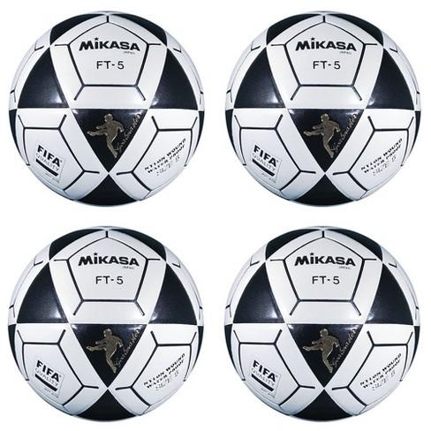 272749ee3 Team Sports Mikasa FT5 Goal Master Soccer Ball Foot Volley Ball Black/Orange  Size 5