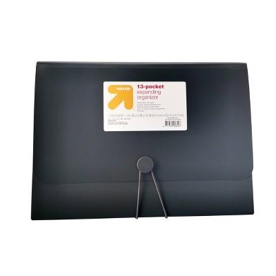 13 Pocket Expanding File Folder Organizer Letter Size Black - up & up™