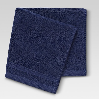 Performance Washcloth Navy Blue - Threshold™
