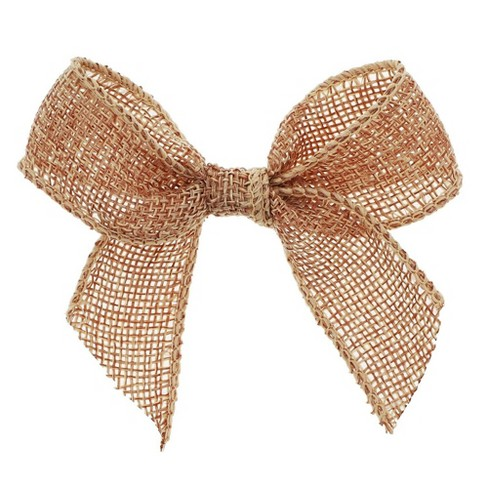 Genie Crafts 12-Pack Handmade Burlap Bows for DIY Crafts and Wedding Decor - image 1 of 3