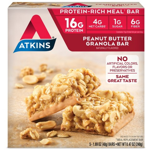Atkins Granola Meal Bar - Peanut Butter - 5ct - image 1 of 1