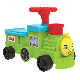 Fisher-Price Tootin' Train Ride-On - Green
