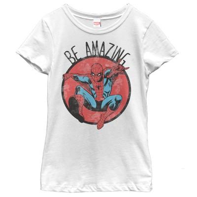 Girl's Marvel Spider-Man Be Amazing T-Shirt