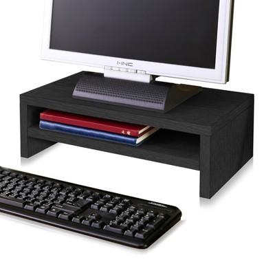 Eco Friendly 2-Shelf Monitor Stand Riser Black - Way Basics