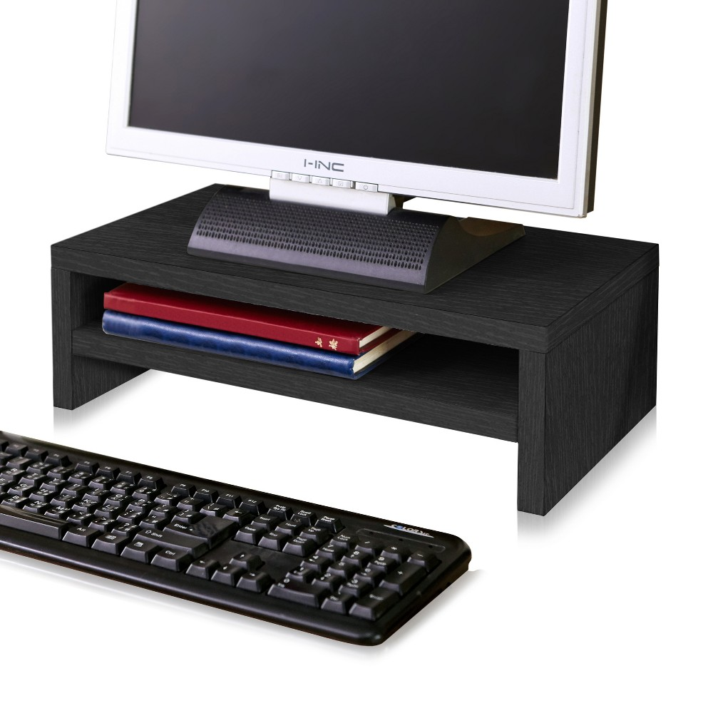 Image of Eco Friendly 2-Shelf Monitor Stand Riser Black - Way Basics