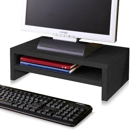 Eco Friendly 2-Shelf Monitor Stand Riser Black - Way Basics - image 1 of 4