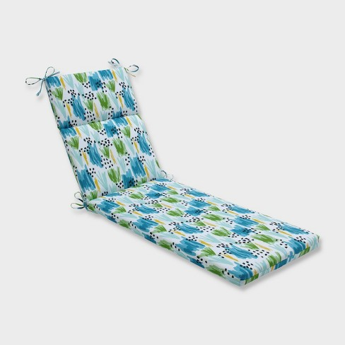Flicker Seaglass Chaise Lounge Outdoor Cushion Blue - Pillow Perfect - image 1 of 2
