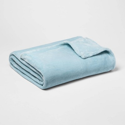 Full/Queen Microplush Blanket Aqua - Threshold™