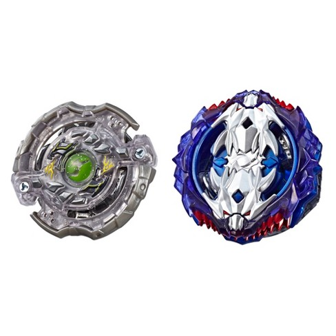 Beyblade Burst Turbo Slingshock Dual Pack Leopard L4 and Silver-X Jormuntor J4 - 2 Right-Spin Battling Tops - image 1 of 2