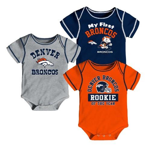 49cb4fef1 NFL Denver Broncos Boys  Newest Fan 3pk Bodysuit Set   Target