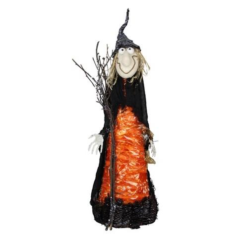 "Northlight 24"" Crinkle Witch Halloween Decoration - Black/Orange - image 1 of 2"