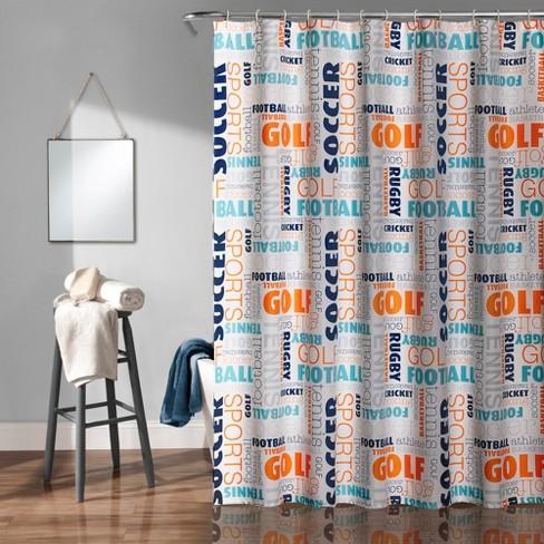 Sports Shower Curtain - Lush Dcor - image 1 of 4