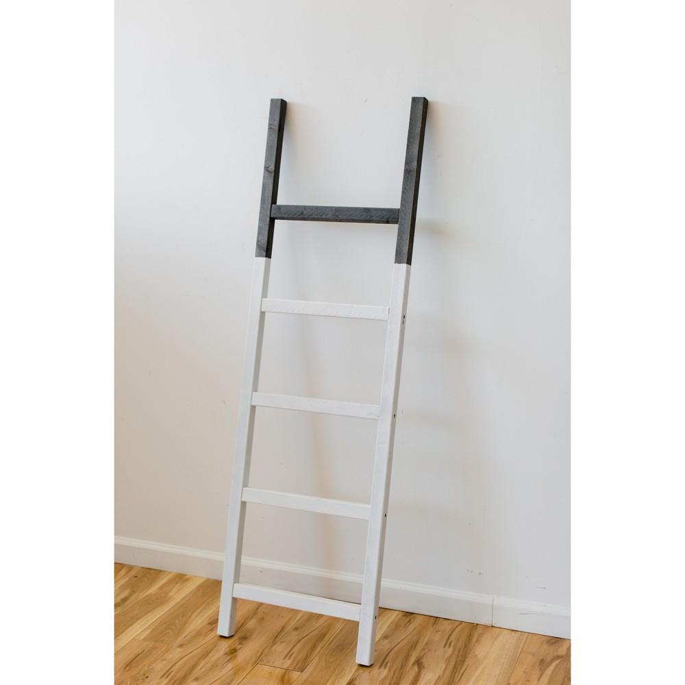 Decorative Ladder Grey/White- Lana & Laura, Gray