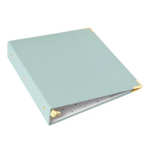 Russell+Hazel Mini Bookcloth 3 Ring Binder Dew - image 1 of 4