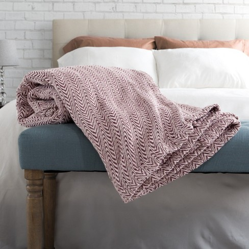 Cotton Luxury Soft Bed Blanket Chevron - Yorkshire Home® - image 1 of 4