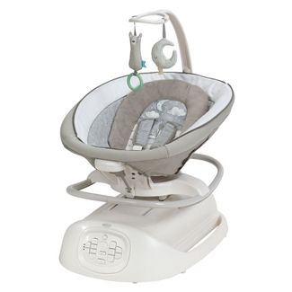 Graco Sense2Soothe Baby Swing with Cry Detection Technology in Sailor - White