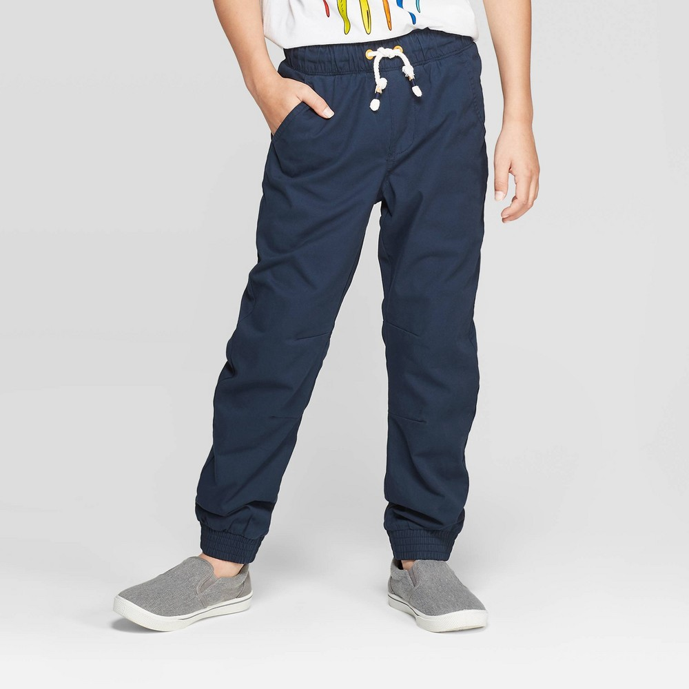 overBoys' Lined Pull-On Jogger Pants - Cat & Jack Blue 10 Husky was $16.99 now $11.04 (35.0% off)