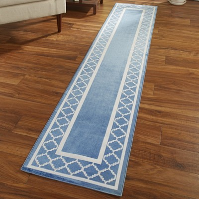 """1'8""""x7'6"""" Rectangle Tufted Runner Blue - The Lakeside Collection"""