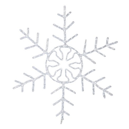 "48"" LED 320Lt Forked Snowflake - Pure White - image 1 of 1"