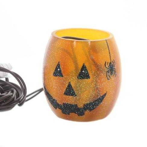 "Stony Creek 3.0"" Pumpkin Lighted Glass Jar Halloween Spider  -  Novelty Sculpture Lights - image 1 of 2"