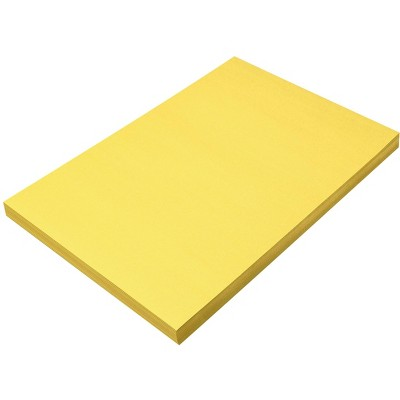 SunWorks Heavyweight Construction Paper, 12 x 18 Inches, Yellow, 100 Sheets