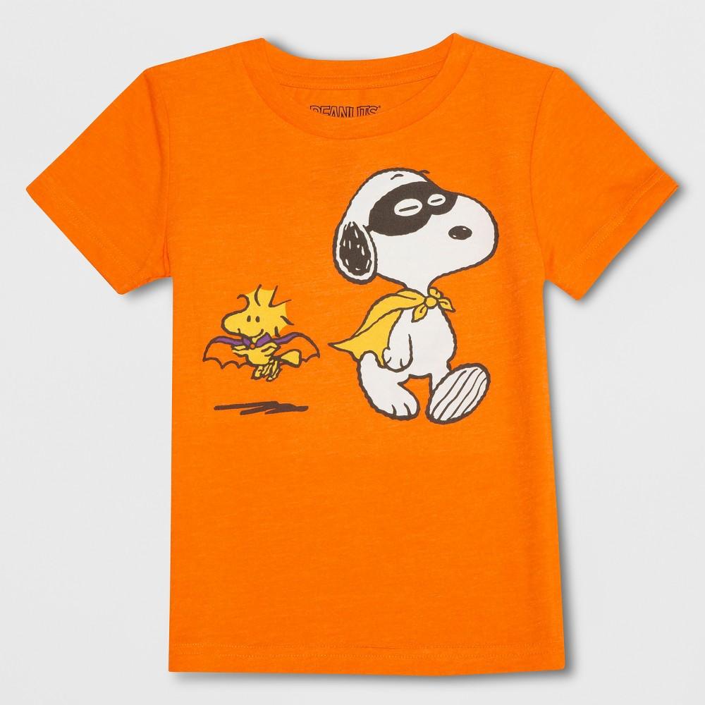 Toddler Boys' Peanuts Short Sleeve T-Shirt - Orange 2T