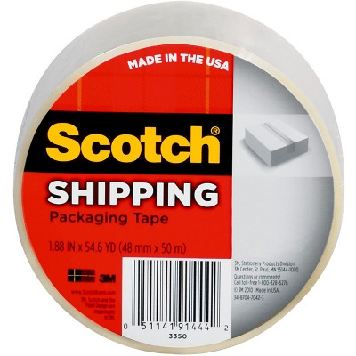 Scotch™ Shipping Packaging Tape, 1.88 in x 54.6 yd